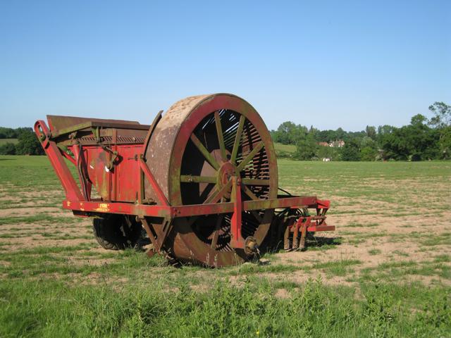 Machine on a turf nursery