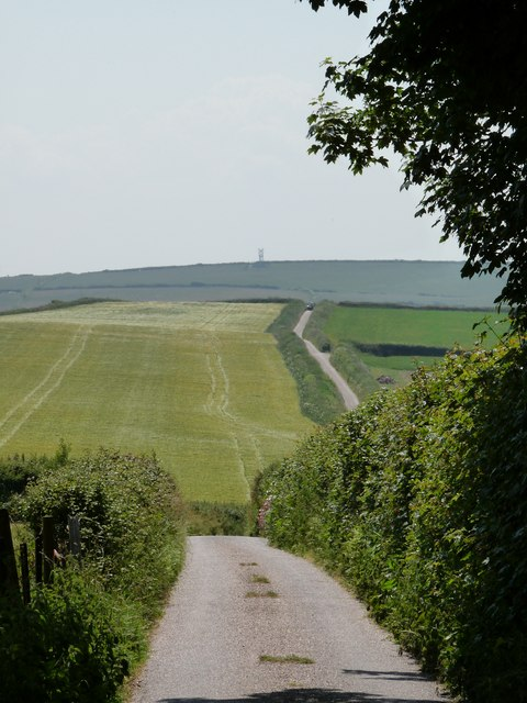The view along the road leaving Pickwell towards the Putsborough Road