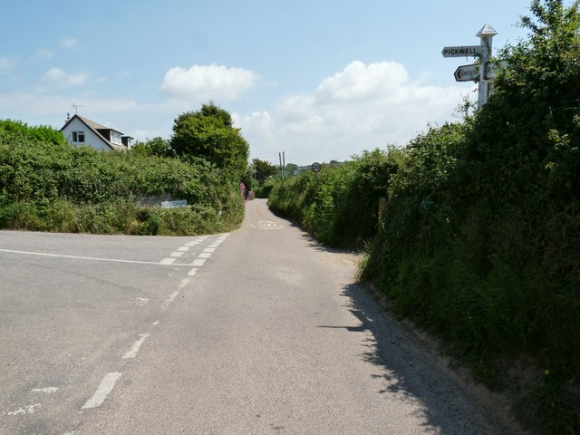 Whitegate Hill Cross on the Putsborough Road