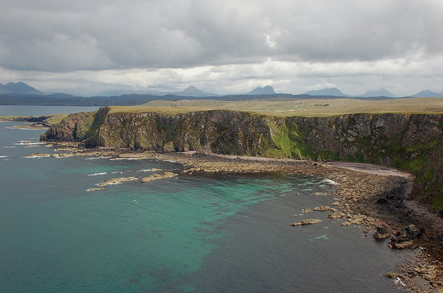 Geodh' Dearg and the mountains of Assynt and Coigach