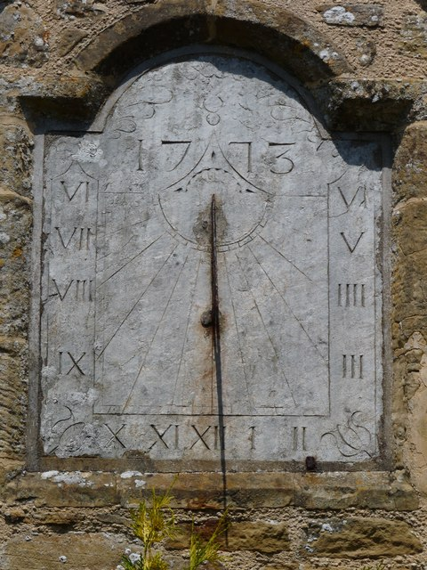 The Sundial over the porch of St George's Church, Georgeham