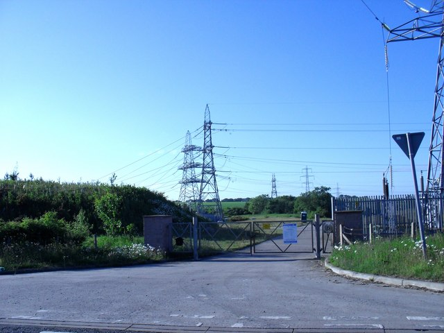 Entrance to Eccles electric sub station