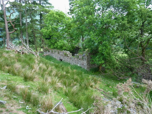 The ruins of Bryn-glas house