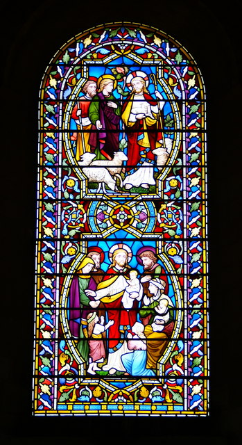 Stained Glass in Romsey Abbey, Hampshire