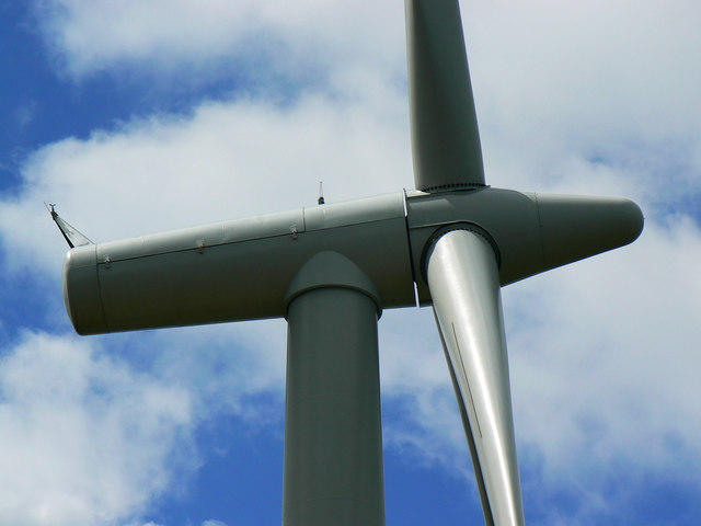 Turbine 1 hub, Westmill Wind Farm, Watchfield