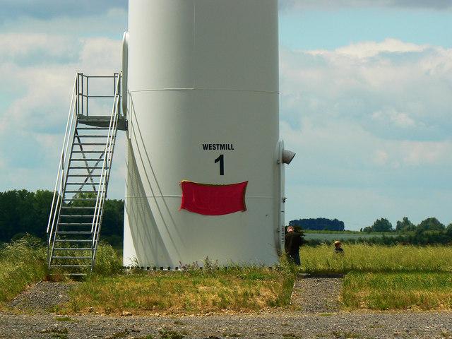 Turbine 1 base, Westmill Wind Farm, Watchfield