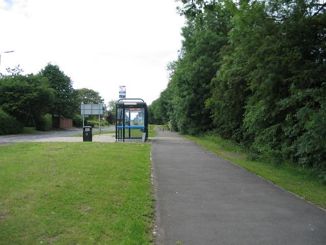 Bus stop on Banner Lane