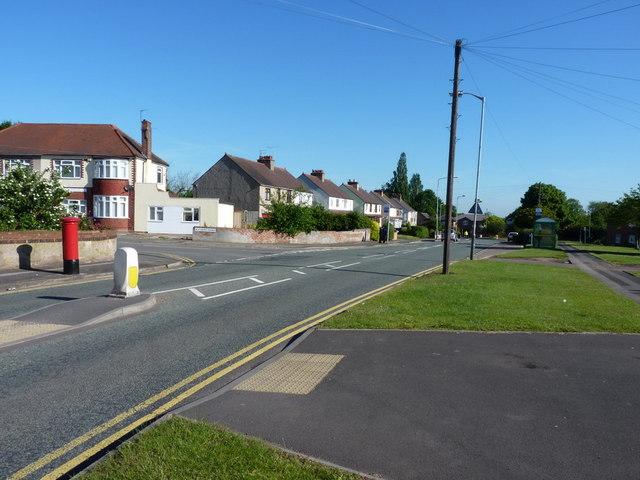 The junction of Aldersley Road and Blackburn Avenue