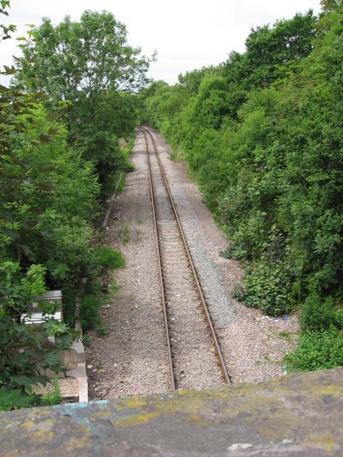 Railway line from Gaer Road, Newport