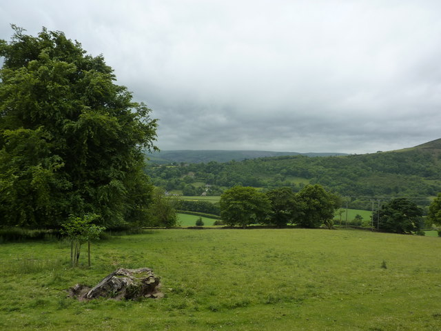 View from a footpath off New Road, Bamford