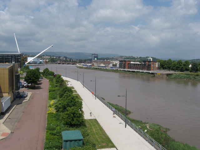 River Usk from George Street Bridge