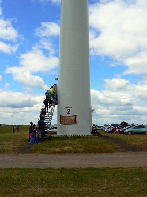 Turbine 2 open to visitors, Westmill Wind Farm, Watchfield