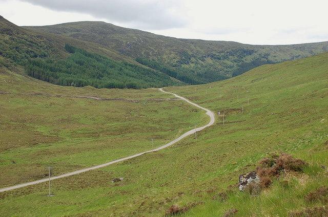 A838 near Loch Merkland