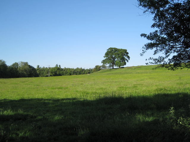 Rising ground west of Pinley Farm