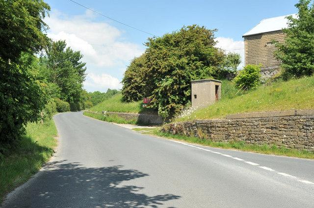 Quarry buildings near the road near Nether Kellet