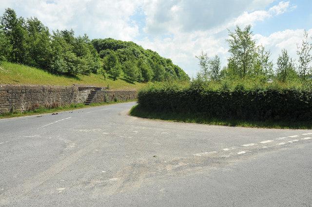 Road junction near Dunald Mill
