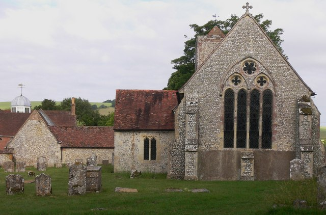 The east end of Chalton church