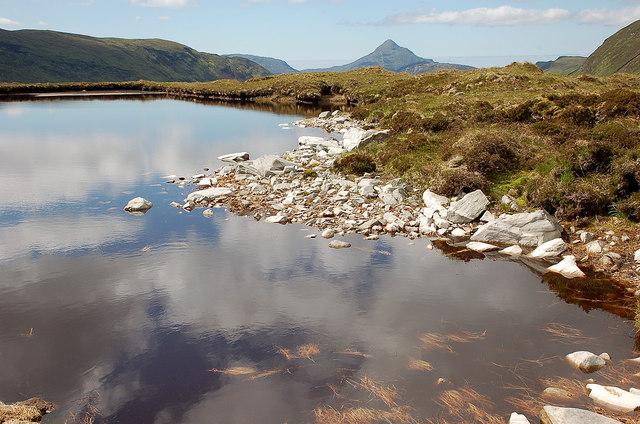 West-most lochan near Cnoc a' Choilich