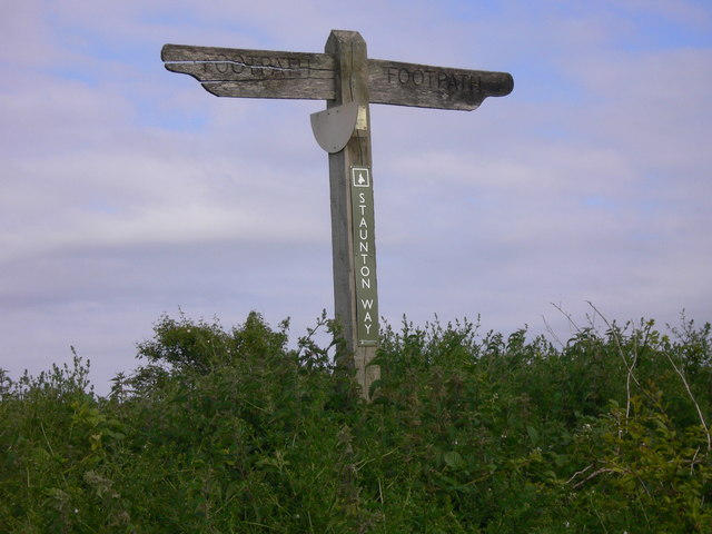Staunton Way signpost on Chalton Down