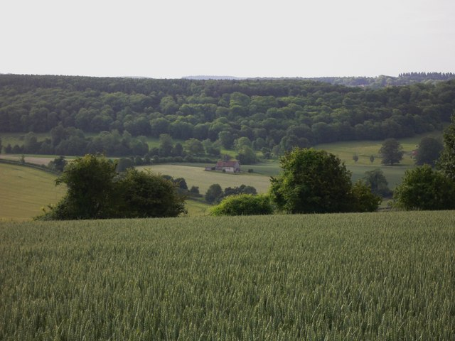 St Hubert's Church seen from the Staunton Way on Idsworth Down