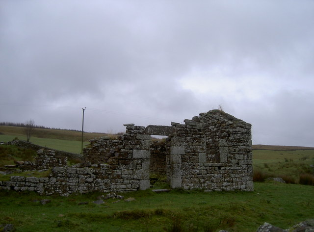 Ruins of second building beside Black Midden bastle