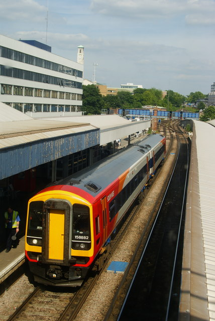 Train at Southampton Central Railway Station