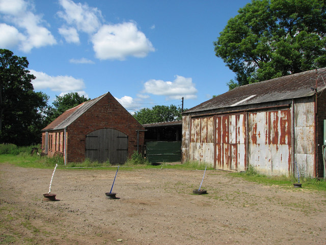 Harby Hill: former ironstone railway workshop and lorry shed