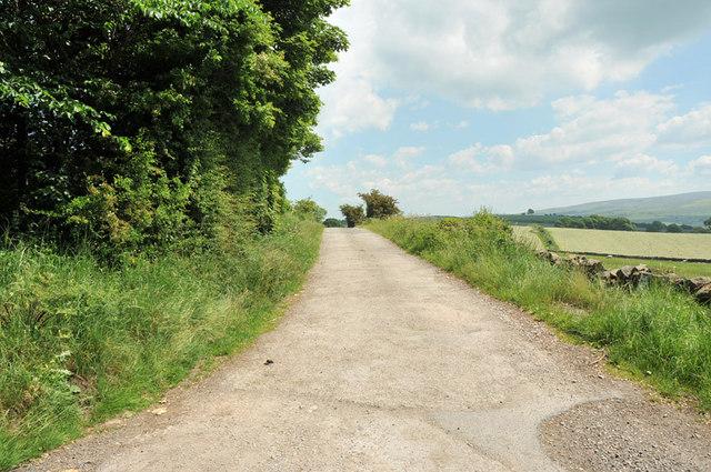 Farm lane to Lower Highfield