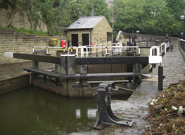 Tuel Lane Locks 3 & 4, Rochdale Canal
