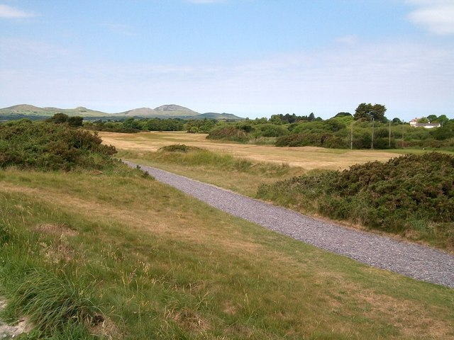 View WNW across the Golf Course at Pwllheli