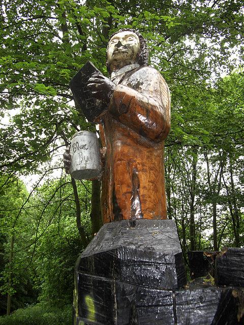 Branwell Bronte statue near Sowerby Bridge