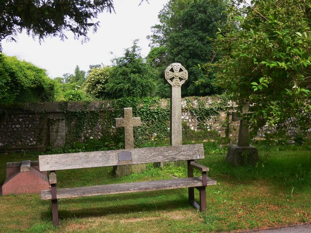 Seat in Blendworth churchyard