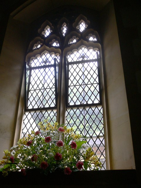 Tall windows on the north wall of Blendworth church