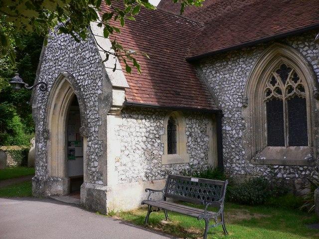The porch at Blendworth Church