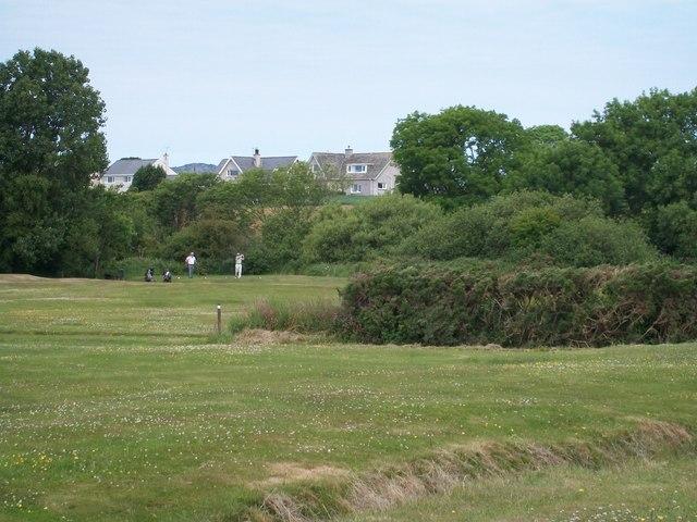 Golfers at the Pwllheli Golf Course