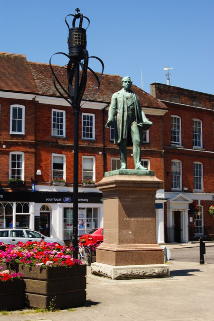 Statue of Lord Palmerston, Romsey, Hampshire