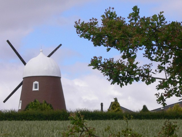 The windmill on Windmill Hill from the east