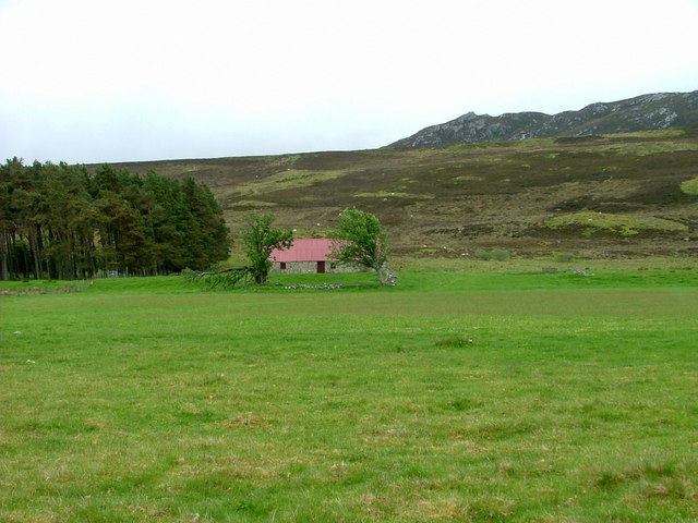 Abandoned croft house near Croachy