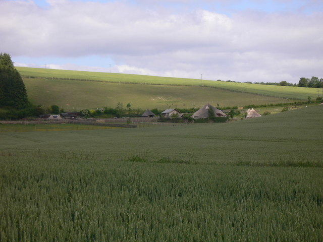 A view of Butser Ancient Farm