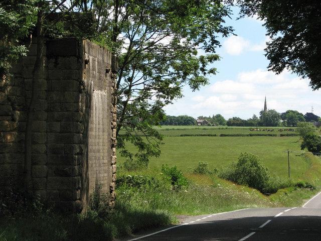 Eaton Branch: bridge abutment and Waltham spire