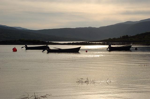 Fishing boats, Loch Shin