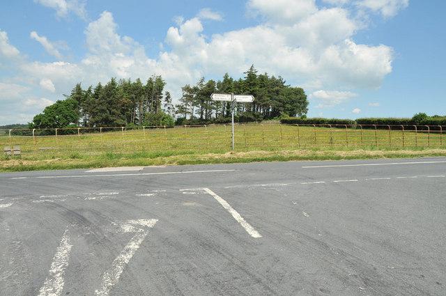 Road junction near Gressingham