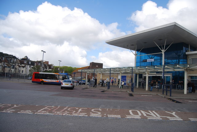 Hastings Bus Station outside the Railway station