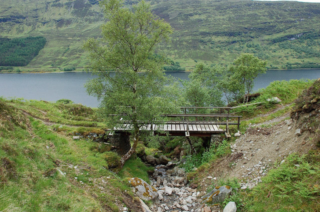 Footbridge over the Allt nan Mang
