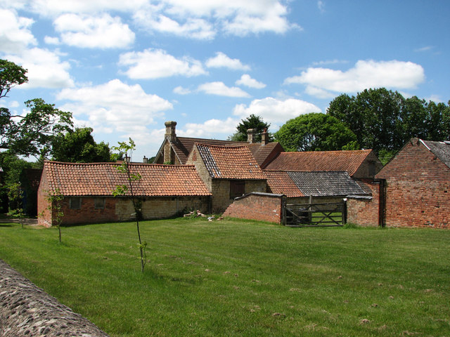 Sproxton: pantiled outbuildings