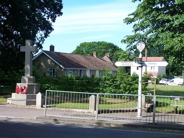 War memorial and green, Awbridge