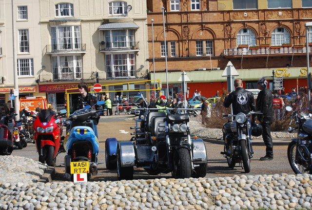 Motorbikes, May Day, Hastings