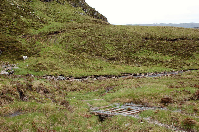 Stalkers' track at the Allt na h-Eilich Duirche