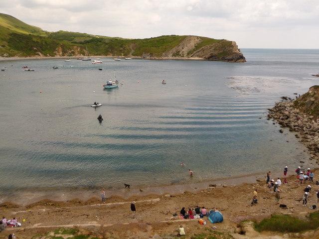 West Lulworth: ripples in Lulworth Cove
