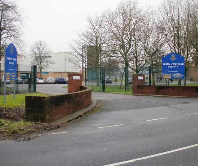 Entrance to Duffryn High School, Newport